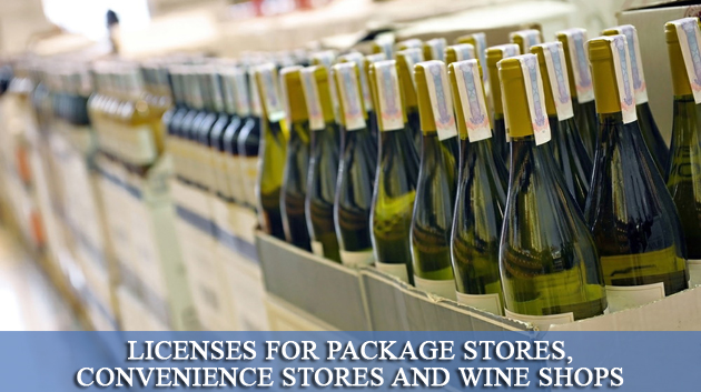 Licenses for Package Stores, Convenience Stores and Wine Shops, Liquor License,