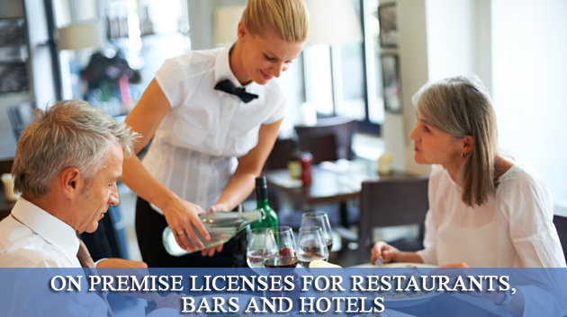 On Premise Licenses for Restaurants, Bars and Hotels, Liquor License,